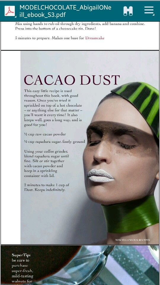 Cacao dust