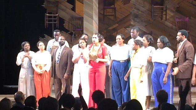 Jennifer Hudson and the cast of The Color Purple deliver stunning version of Purple Rain in tribute to Prince.
