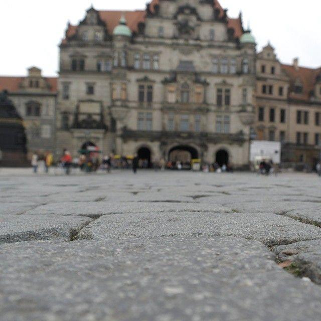 #dresden #schloss - kopfsteinpflaster in der #altstadt