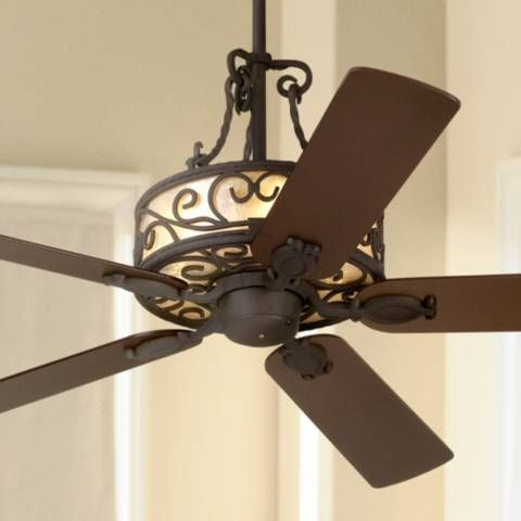 """60"""" John Timberland Natural Mica Collection Iron Ceiling Fan - #40213 