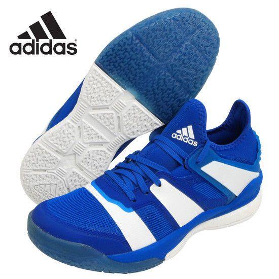 adidas Stabil X Unisex Badminton Shoes Training Blue Shuttlecock Racquet BB1804 #adidas