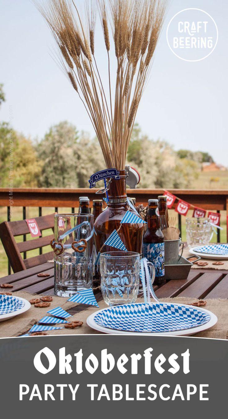 Oktoberfest Party Tablescape – part of Craft Beering's Oktoberfest Bash!