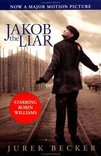 """Jurek Becker """"Jacob the Liar"""" (Jakob der Lügner). An occupant of the Warsaw ghetto tries to help his fellow Jews sustain life by telling them lies about the Russians being almost there to liberate them."""