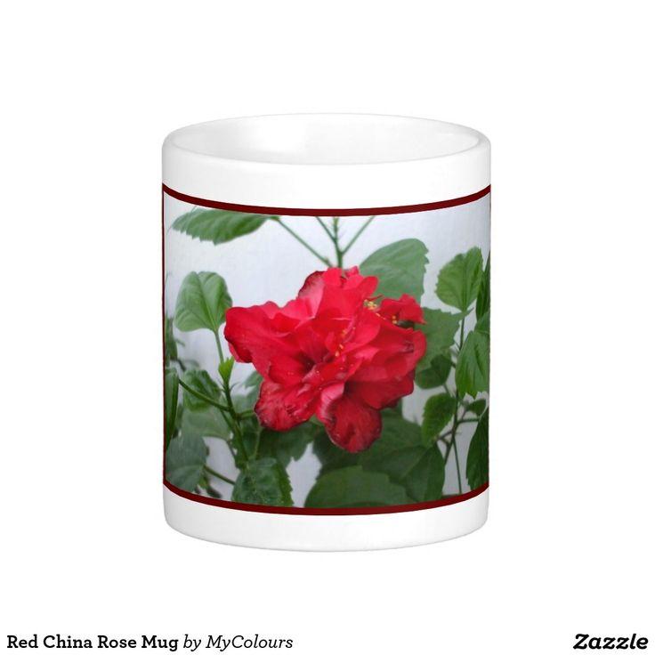 Red China Rose Mug