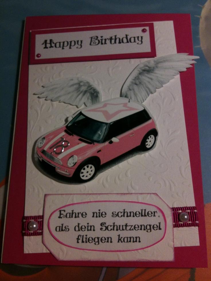 18. Geburtstag + Führerschein Mini Cooper Rosa weiß ...