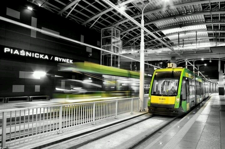 Poznan Poland city tram