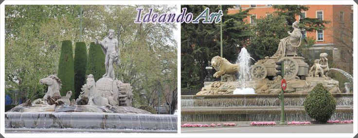 Fuentes de Cibeles y Neptuno en Madrid by IdeandoArt