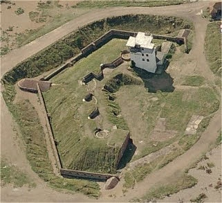 Shoreham Fort, West Sussex. Built in 1856 and to a very similar design to Littlehampton Fort