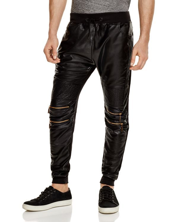 American Stitch Faux Leather Jogger Pants - Compare at $87