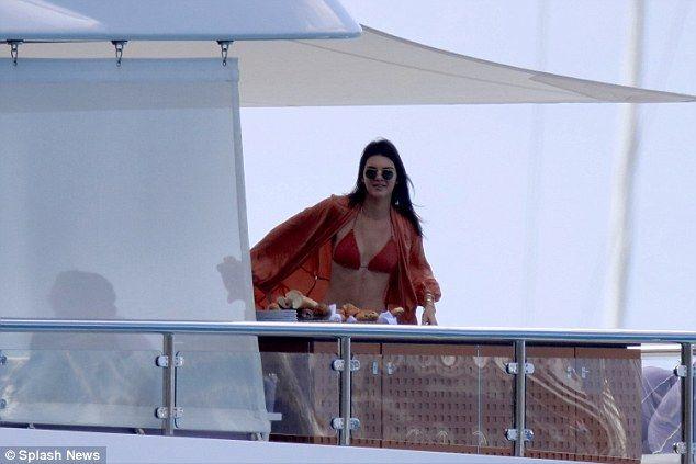 Bikini babe:Kendall, who found fame alongside her mum on Keeping Up With The Kardashians,...