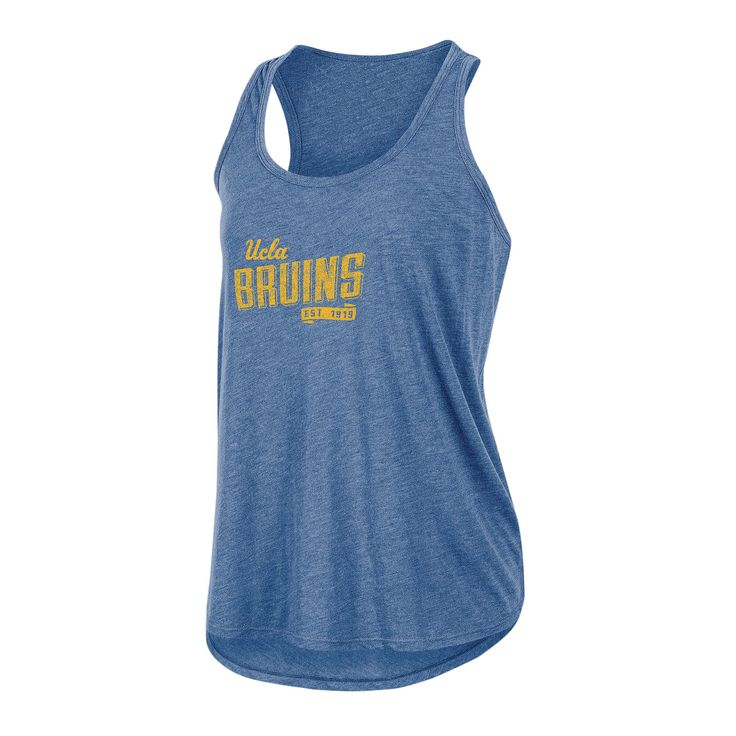 NCAA Women's Gameday Heathered Racerbank Soft Touch Poly Tank Top Ucla Bruins - XL, Multicolored