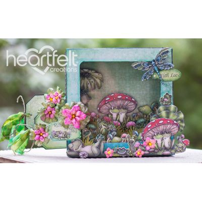 Heartfelt Creations - Winking Frog Shadowbox Card Project