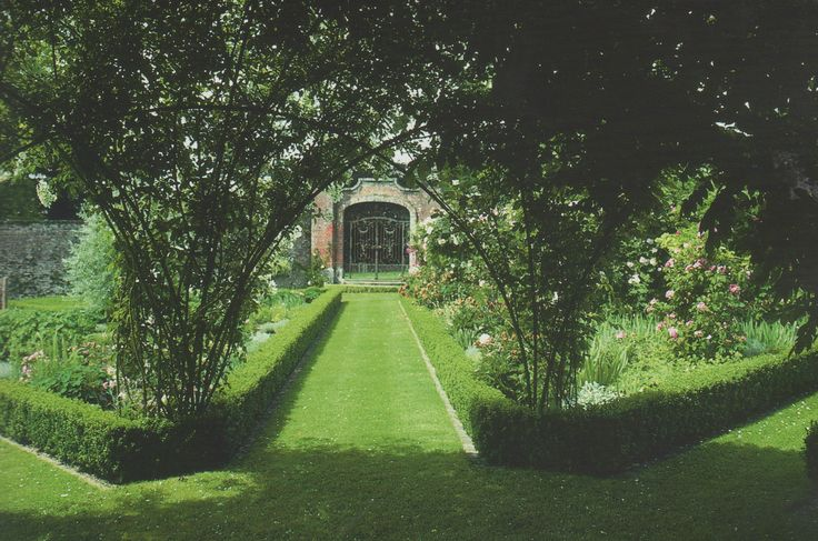 roses and walled garden