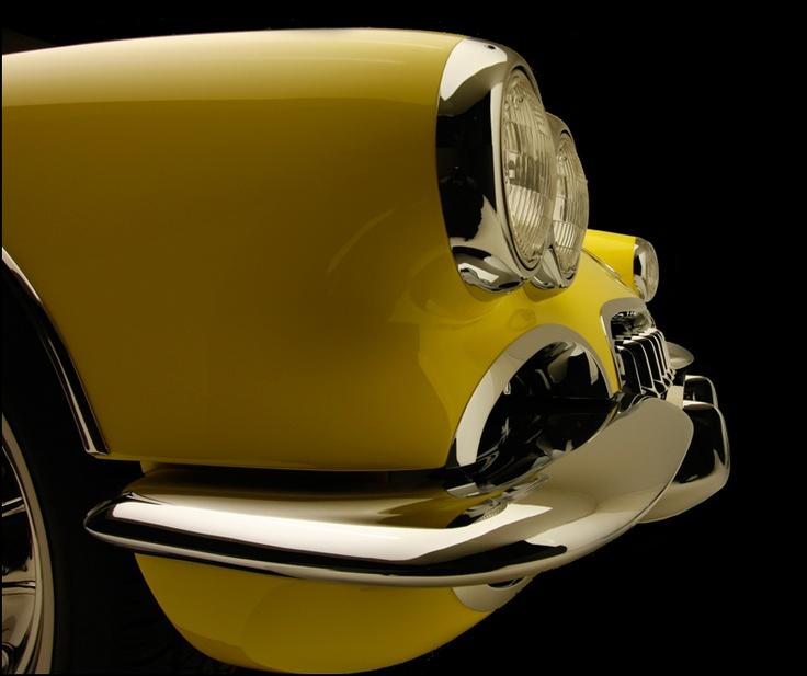 1958 Yellow Corvette