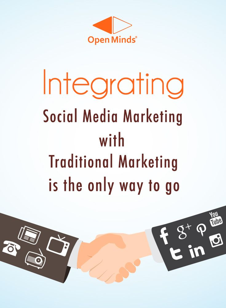 Integrating Social Media Marketing with Traditional Marketing is the only way to go. To know more, READ: http://openmindsagency.com/top-10-trends-2015-social-media-industry-report-new-research/ #openminds #quote #digitalmarketing