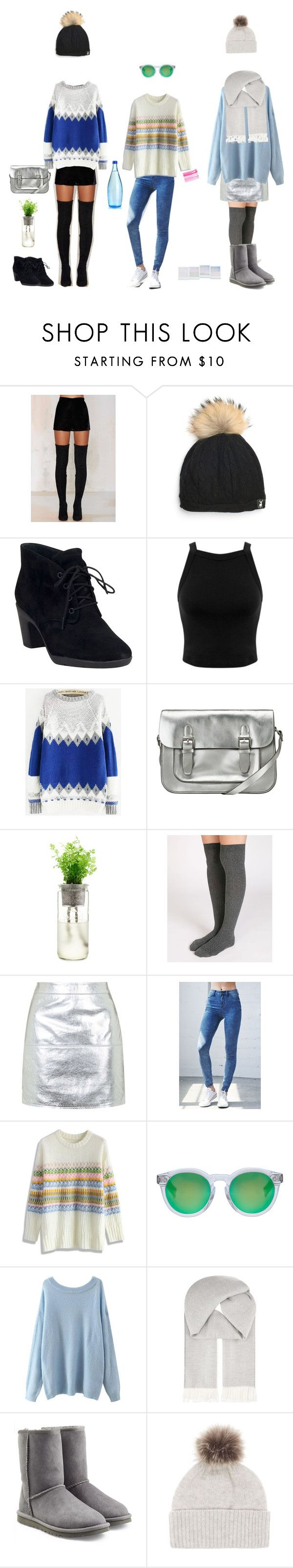 """""""Bobble hats❄️"""" by delia-s ❤ liked on Polyvore featuring Native Rose, Clarks, Miss Selfridge, Kin by John Lewis, Oysho, Topshop, Bullhead Denim Co., Chicwish, Illesteva and Johnstons"""
