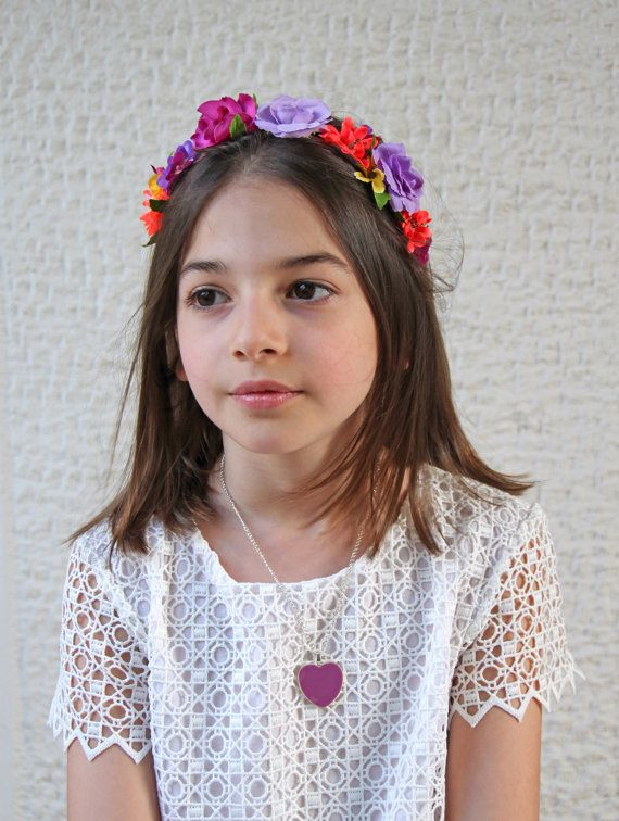 Purple Heart necklace kids jewelry girls amethyst plum mauve
