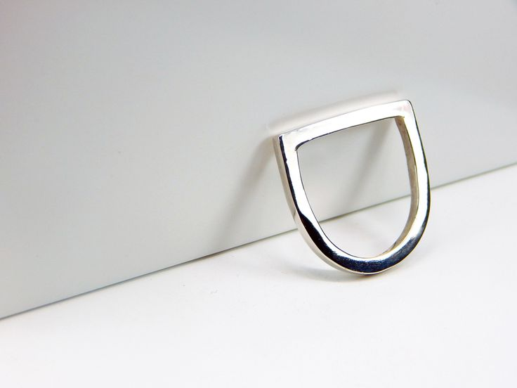 Handmade IN LINE Sterling Silver Ring