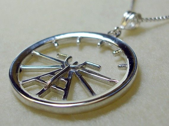 Aviation Attitude Indicator Large Sterling by AviationJewelry, $82.00