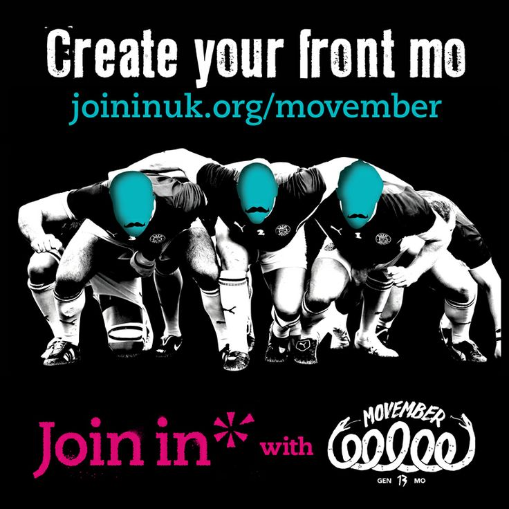Join In with Movember – Create your front mo. For those Mo's who know that moustaches are happiest on a sportsman's upper lip! The Join In UK network is for everyone who knows, loves, runs or simply wants to get involved at their local sports club. Whether a club or individual, join our growing network and find out how to join in at www.joininuk.org/movember
