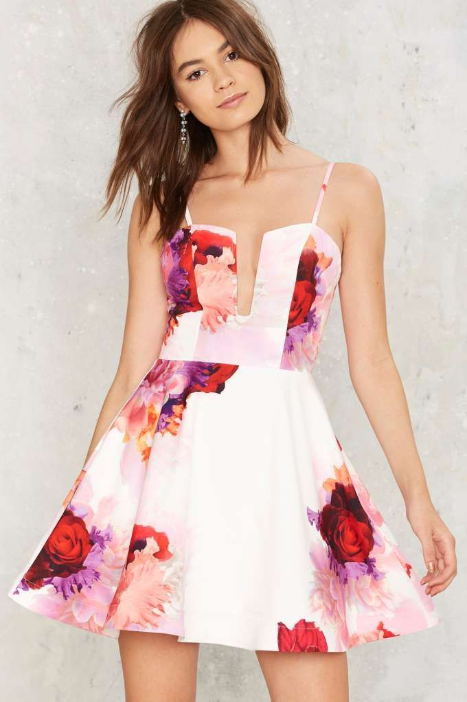 Wry grin cocktail dress