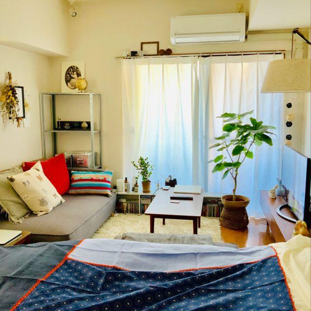 イタリア雑貨 Ikea ベッド 一人暮らし 狭い部屋 などのインテリア
