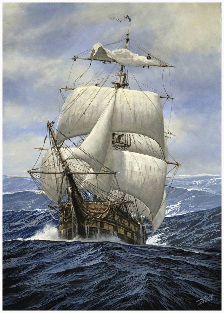 Tall Ship in rough seas                                                                                                                                                                                 More