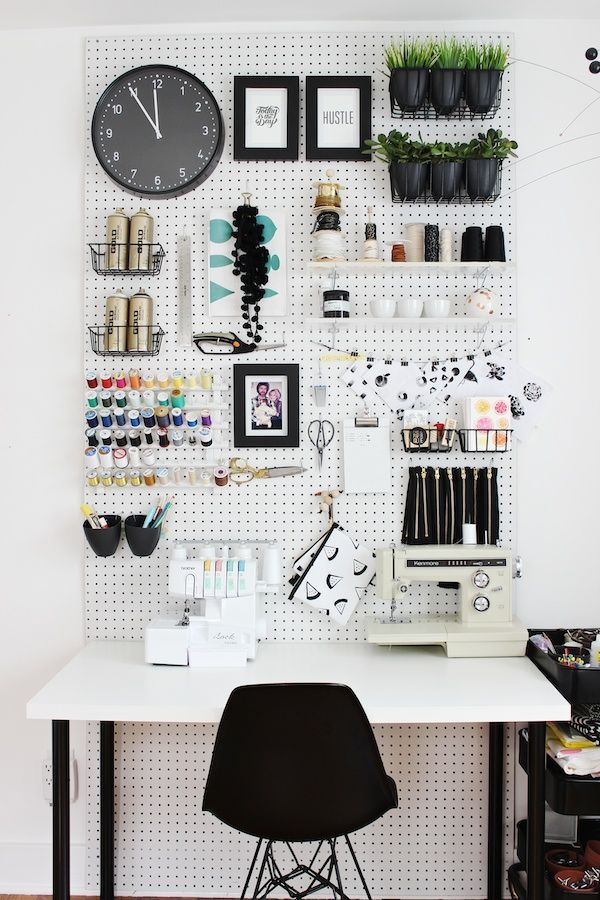 Peg Board Organization | Sewing Studii