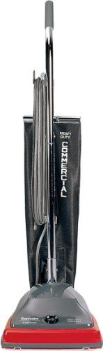 """Sanitaire SC679J Commercial Shake Out Bag Upright Vacuum Cleaner with 5 Amp Motor, 12"""" Cleaning Path -  The Sanitaire SC679J Commercial shake out bag upright vacuum cleaner is lightweight( 12 lb.), has a 5 amp motor that delivers 120 cubic feet per minute (CFM) of air flow, and has an 18 dry quart capacity Tietex fabric shake-out bag that can be emptied and reused to save costs associated with dis..."""