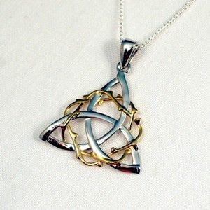 Our Celtic Crown of Thorns necklace is a beautiful symbolic representation of the Crucifixion.  In Christianity, the Crown of Thorns was instrumental part of the Passion. It was a crown woven of thorn branches and placed on Jesus Christ before his crucifixion. The Crown of thorns combined with the Trinity Knot is a true symbol of Celtic Faith.