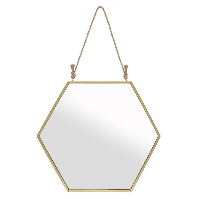 Large Gold Geometric Mirror