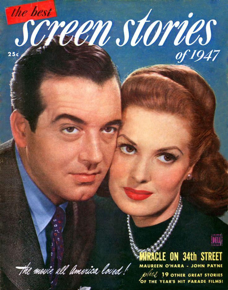 John Payne and Maureen O'Hara   the best Screen Stories magazine 1947