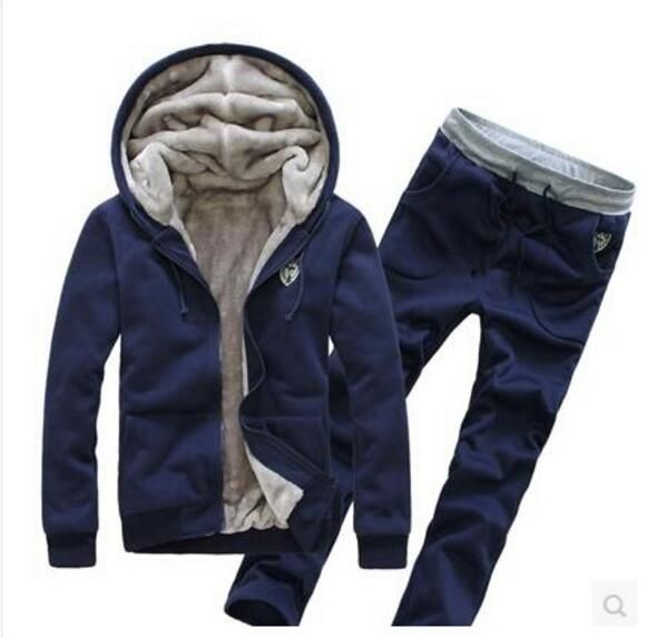 Daily Discount $26.96, Buy Men's Hoodie Thick Winter Tracksuits Fashion Sweatshirt Active 4Colors Pullover Tracksuits Moleton Masculino (Asian Size)