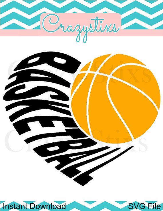 heart basketball svg child svg svg files for by CrazyStixs on Etsy