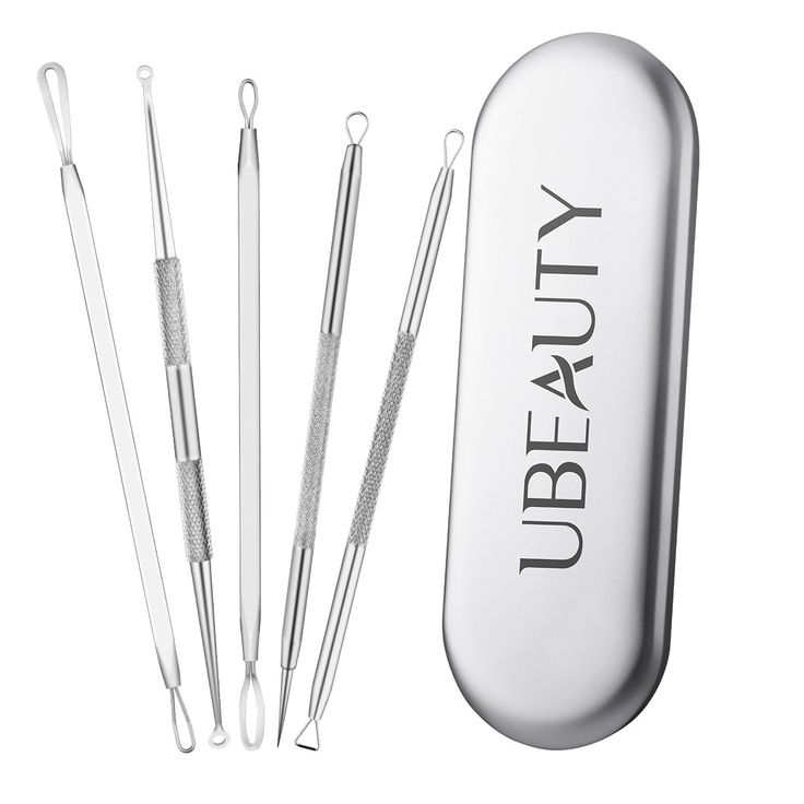 ElleSye UBeauty 5-in-1 Blackhead Remover Kit Pimple Extractor Acne Comedone Removal Tool