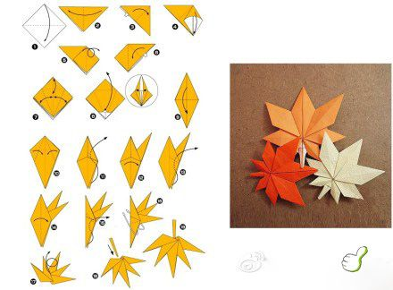origami leaves tutorial @Af 11/1/13
