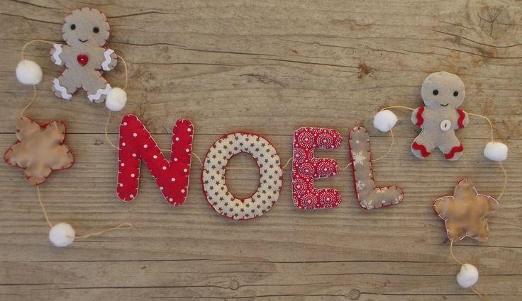 Guirlande de lettres de Noël pour la décoration de la maison ou du sapin SUR COMMANDE : Accessoires de maison par floriane-s