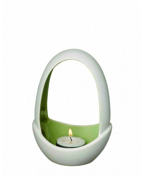 Herstal Piemonte kynttelikkö avoin malli vihreä 15 cm