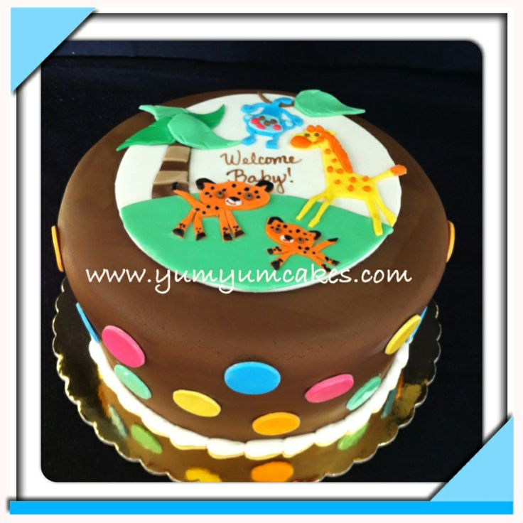 fisher price safari baby shower cake baby shower cakes pinterest