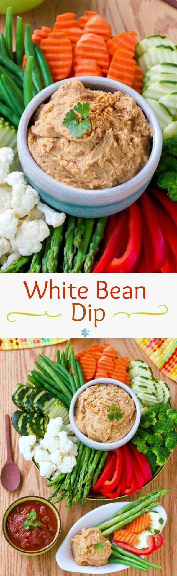 White Bean Dip is here to help with healthy noshing. Getready for the next get-together that is just around the corner. Fast & tasty!