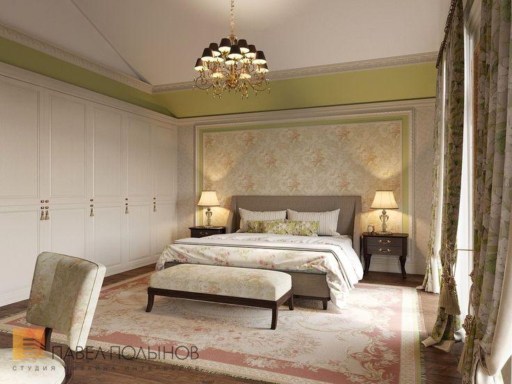 Фото: Спальня родителей - Интерьер загородного дома в стиле легкой классики, КП «Альпино», 430 кв.м.