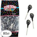Black Dum Dums Lollipops 80pc