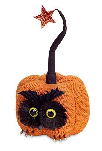 10 Orange and Black Burlap Owl Pumpkin with Star Autumn Table Top Decoration @ niftywarehouse.com #NiftyWarehouse #Halloween #Scary #Fun #Ideas