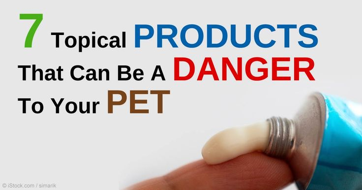 Over-the-counter and prescription topical products like antifungal creams, ointments, and vitamin A compounds may be dangerous to your pets when licked.