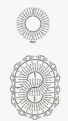 anelli incrociati uncinetto | Hobby lavori femminili - ricamo - uncinetto - maglia