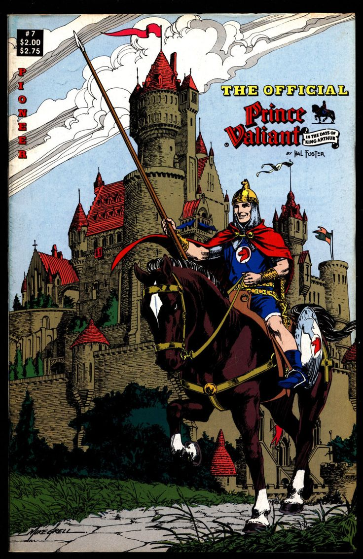 Official PRINCE VALIANT #7 Hal Harold R. Foster King Arthur's Round Table Camelot Comic Book Newspaper Funnies Reprints Pioneer Comics