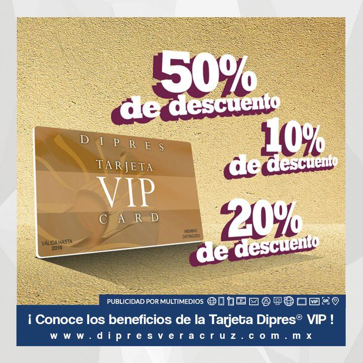 Conoce los beneficios de la Tarjeta Dipres® VIP! #Marketing #VIP #Beneficios #Descuentos #Cortesías #Restaurantes #Bares #Hoteles #Veracruz #BocaDelRío #Dipres #Publicidad #DipresVeracruz #VerBoca #BocaVer
