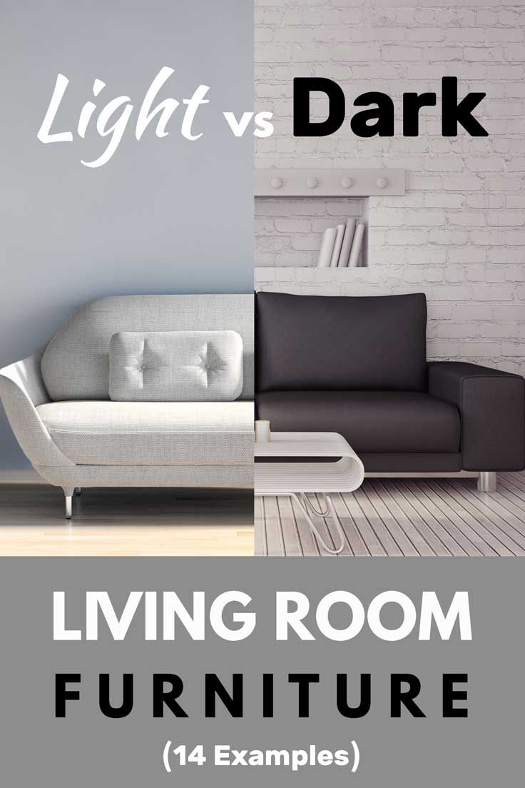 Should You Choose Light or Dark Living Room Furniture? (Inc. 14 examples). Post by HomeDecorBliss.com #HDB #HomeDecorBliss #livingroom #livingroomideas ...