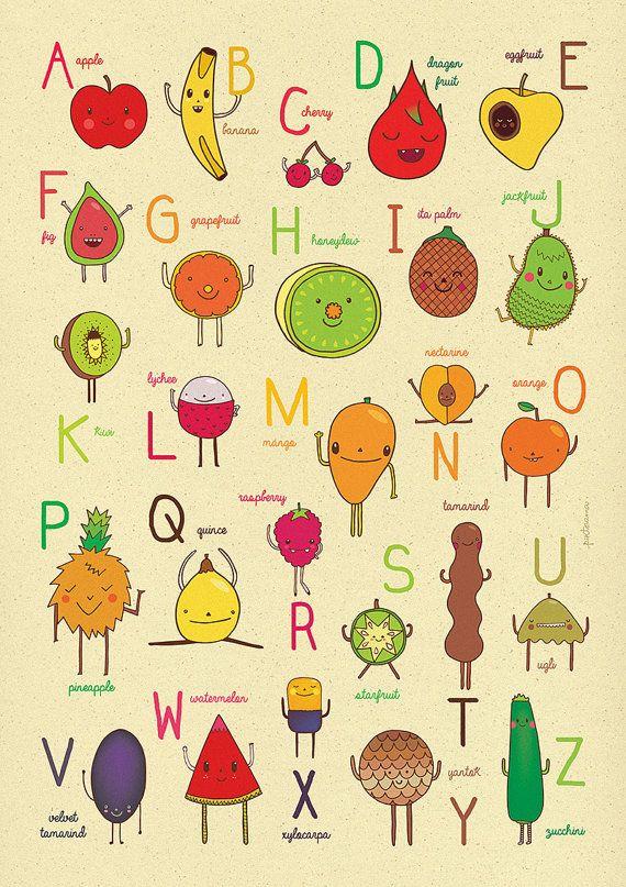 ABC++Fruit+Alphabet+by+piktorama