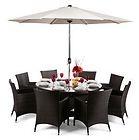 EUR 1.149,95 - Gartentisch  8 Stühlen aus Rattan - http://www.wowdestages.de/eur-1-14995-gartentisch-8-stuhlen-aus-rattan/